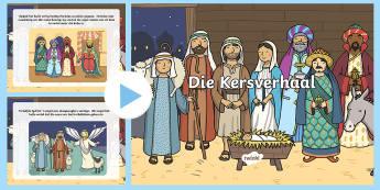 Die Kersverhaal PowerPoint - Desember, Jesus, Betlehem, lees, luister, storie