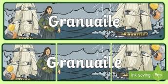 Granuaile Display Banner - Grace O'Malley, Irish, History, Ireland,Irish