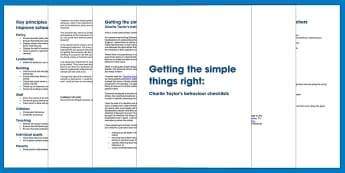 Getting the simple things right: Charlie Taylor's behaviour checklists - behaviour management, managing behaviour, behaviour toolkit, discipline, classroom management, learn