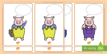 Three Little Pigs Speech Bubble Poster  - The Three Little Pigs Posters - the gingerbread man, thought bubbles, speech bubble, posters, displa