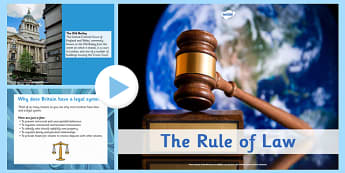 The Rule of Law PowerPoint - rule, law, powerpoint, rules, fairness, fair