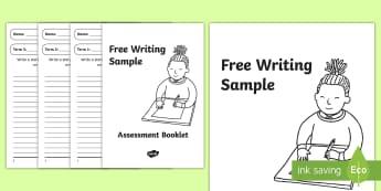 Writing Assessment Booklet - free, writing, sample, assessment, progress