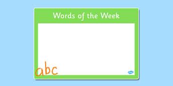 Words of the Week Poster - words, week, poster, display, words of the week