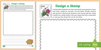 Design Your Own Postal Stamp Activity Sheet - Design, Postal, Stamp, Post, Sketch, History, Culture, Important People