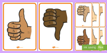 Thumbs Up, Thumbs Down Display Posters - Thumbs, up, down, psed, seal, right, wrong, good, bad, self assessment,