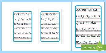 Cursive Alphabet Letter Formation Poster Upper and Lower Case IKEA Tolsby Frame - Cursive Alphabet Letter Formation Poster Upper and Lower Case - cursive, alphabet, letter formation,