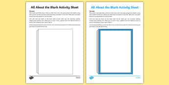 All About the Blurb Worksheet / Activity Sheet-Irish, worksheet