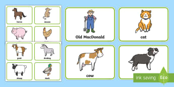 Old MacDonald Had a Farm Picture Flashcards - baby sign language, baby sign, sign for, early communication, baby signing, baby sign language, comm