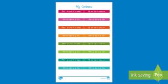 Student-Led Conference Worksheet / Activity Sheet - reports, managing self, conferences, worksheet, goals, progress, updates, goal setting