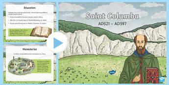 aint Columba PowerPoint - St Columba, Iona, Scottish Saints, Catholic Saints, Missionaries,pilgrimage ,Scottish