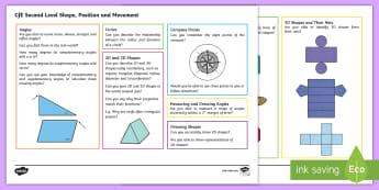 CfE Second Level: Shape, Position and Movement Maths Mat - Numeracy, Benchmarks, 2nd level, assessment materials, assessement Mats,Scottish