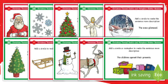 Christmas-Themed Similes and Metaphors Blether Stations - VCOP, Christmas literacy, Big Writing, Tools for Writing, Figure of Speech
