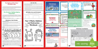 Year 4 Christmas Maths Activity Pack - year 4 christmas maths, year 4 maths, christmas maths for year 4, christmas maths activities,