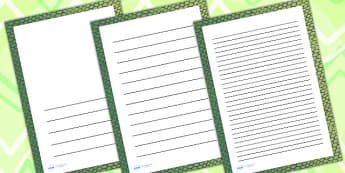 Snake Skin Page Borders - writing templates, writing frames