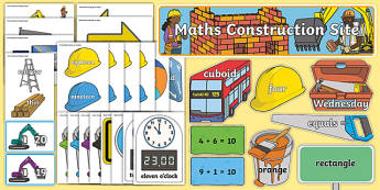 Primary 1 Maths Construction Display Pack-Scottish