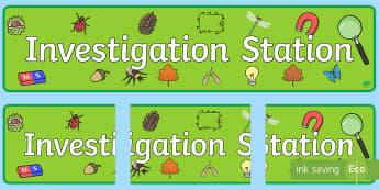 Investigation Station Display Banner  - Exploration Area Display Banner - exploration area, display banner, banner, header, banner for displ