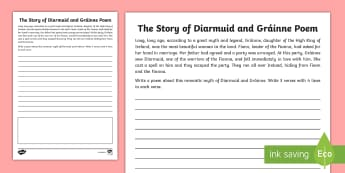 The Story of Diarmuid and Gráinne Poem - Myths, Legends, Irish tales, Celtic, The Fianna, Irish, poetry, creative