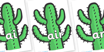 Phase 3 Phonemes on Cactus - Phonemes, phoneme, Phase 3, Phase three, Foundation, Literacy, Letters and Sounds, DfES, display