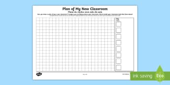 Plan of My New Classroom Transition Sheet English/Portuguese - Plan of My New Classroom - plan, new classroom, new, classroom, trasition, bump up day, tranistion,