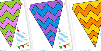 Display Bunting (Zig Zags) - Bunting, display bunting, classroom bunting, decorative bunting, royal wedding, classroom display