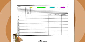 Ancient Egypt Mid Term Planning Template - egyptians, history