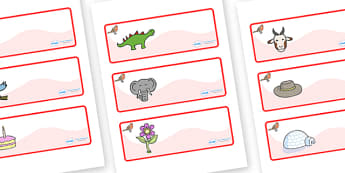 Robin Themed Editable Drawer-Peg-Name Labels - Themed Classroom Label Templates, Resource Labels, Name Labels, Editable Labels, Drawer Labels, Coat Peg Labels, Peg Label, KS1 Labels, Foundation Labels, Foundation Stage Labels, Teaching Labels
