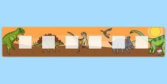 Dinosaur Theme Visual Timetable Display - Visual Timetable, dinosaur, SEN, Daily Timetable, Display, School Day, Daily Activities, KS1, Foundation Stage, display board, visual timetable display, Daily Routine