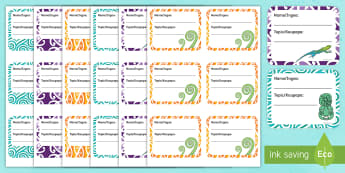 NZ Themed Book Labels - Te Reo Maori / English - New Zealand Back to School, book labels, maori,