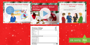 Are the Christmas Holidays Too Long? Debate Pack - festive, holiday, school, ks3, form, period, discussion