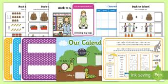 Back to School F-2 Resource Pack - back to school, new year, school year, display, calendar, behaviour, reward, reward chart, activitie