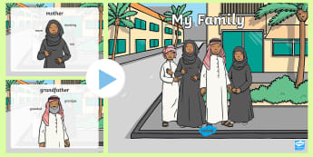 My Family PowerPoint - My Family, My UAE Family, Emirati Family, All About Me, UAE All About Me