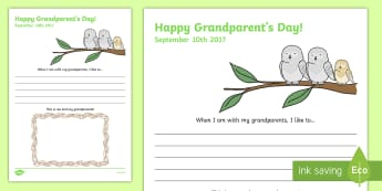 Grandparents Day Draw and Write Worksheet / Activity Sheet, worksheet