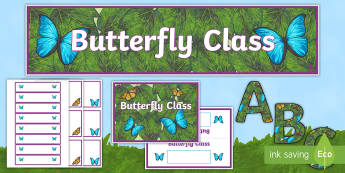 Butterfly Class Display Pack - Butterfly Class Display Pack - butterfly, pack, class banner, display banner, table name, ladybird d