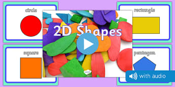 2D Shape Audio Flashcards - 2d shapes, audio, sound, flash cards