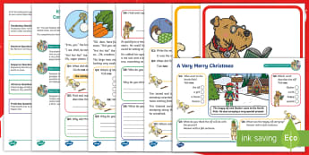 KS1 A Very Merry Christmas Focused Reading Skills Comprehension Pack - Year 1, Year 2, comprehension, understanding, reading dogs, SATs style questions, content domains