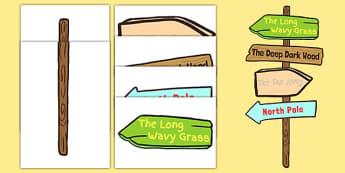 Story Sign Post Display - story sign post, display, story, sign, post, story display