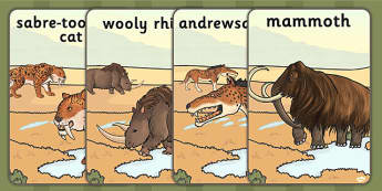 Prehistoric Beasts Display Posters - history, ks2, prehistoric