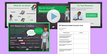 DIY Resource Creator Pack - design, resources, independent learning, peer mentoring, learning objectives, self-assessment