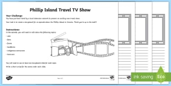 Australian States and Territories - Phillip Island TV Show Storyboard Activity - Australian Curriculum, HASS, Geography, Year Three, The Representation Of Australia As States And Te