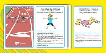 Summer Olympic Yoga Cards - usa, america, summer olympics, yoga, cards