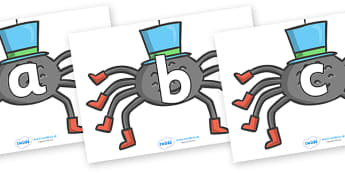 Phoneme Set on Spiders - Phoneme set, phonemes, phoneme, Letters and Sounds, DfES, display, Phase 1, Phase 2, Phase 3, Phase 5, Foundation, Literacy