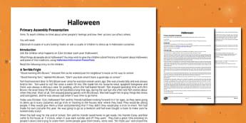 Halloween Assembly - halloween, pumpkin, October, celebration, festival, assembly, assemblies