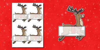 Christmas Editable Self-Registration Rudolph - self registration, self-registration, editable, rudolph, editable rudolph, christmas rudolph, editable labels, editable self registration labels, labels, registration, child name label, name label, regis