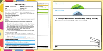 EYFS A Changed Crocodile Adult Input Plan and Resource Pack to Support Teaching on The Enormous Crocodile