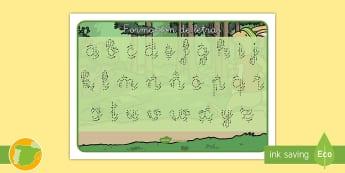 Tapiz de formación de letras: La liebre y la tortuga - grafomotricidad, formar, caligrafia, cuentos tradicionales, cuentos con valores