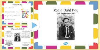 Roald Dahl Day PowerPoint - roald dahl day, powerpoint, roald dahl