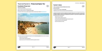 Travel and Tourism 2 GCSE Higher Tier Photo-Card French - Speaking, oral, holiday, vacation, transport, accommodation, country
