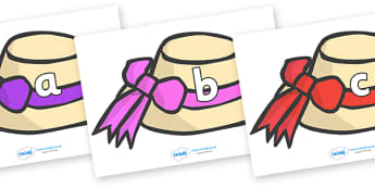 Phase 2 Phonemes on Summer Hats - Phonemes, phoneme, Phase 2, Phase two, Foundation, Literacy, Letters and Sounds, DfES, display
