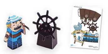 Pirate Cabin Boy Paper Model - Pirate, Paper, Model, Cabin, Boy