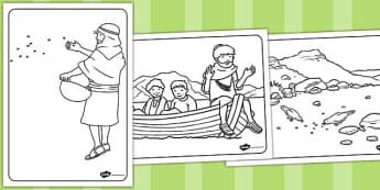 The Sower and the Seeds Colouring Sheets - parables, seed, colour